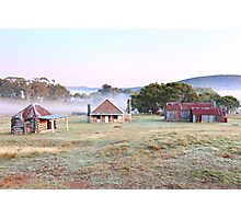 Coolamine Homestead Dawn, Kosciusko National Park, Australia Photographic Print