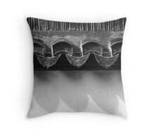 on the tiles - Chinese Roofing Tiles Throw Pillow