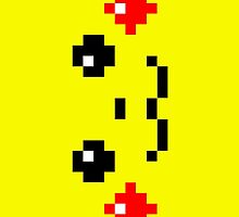 Pikachu's face - pixel art by galegshop