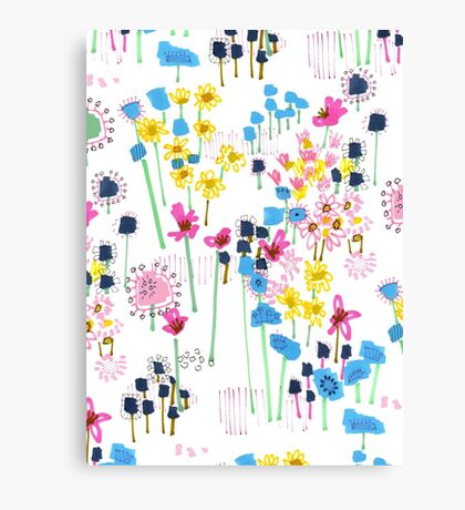 July Floral Garden Canvas Print