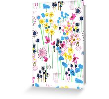July Floral Garden Greeting Card