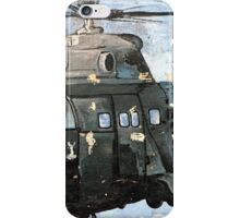 Helicopter Gunship with background  iPhone Case/Skin