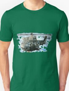 Helicopter Gunship with background  T-Shirt