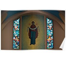 St. Mary's Ukrainian Catholic Church Interior... Poster