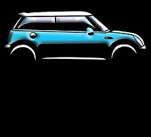 MINI, CAR, BLUE, BMW, BRITISH ICON, MOTORCAR by TOM HILL - Designer