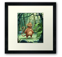 """Mogie"" The Monkey Framed Print"