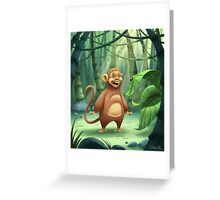 """Mogie"" The Monkey Greeting Card"