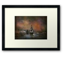 Looking place on earth Framed Print