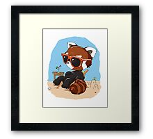 Beach Bum Panda Framed Print