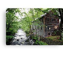 The Mill on Stevens' Brook Canvas Print