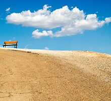 Bench and Clouds by Daniel Smith