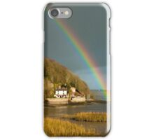 Dylan Thomas Cottage and Rainbow Laugharne iPhone Case/Skin