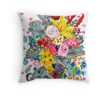 Blooming Wednesday Floral Throw Pillow