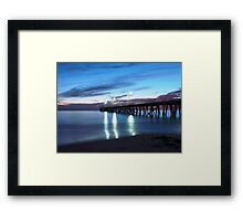 Grange Jetty: An Autumn evening Framed Print