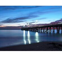 Grange Jetty: An Autumn evening Photographic Print