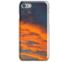 Red Clouds at Sunset iPhone Case/Skin
