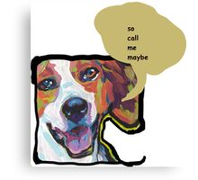 American Foxhound Bright Colorful Pop Dog Art Canvas Print
