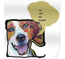 American Foxhound Bright Colorful Pop Dog Art Poster