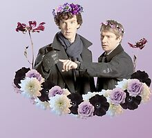 Johnlock in flowercrowns ** by Mutotoru