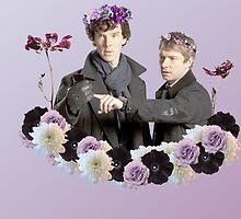 Johnlock in flowercrowns ** by Mutotoru