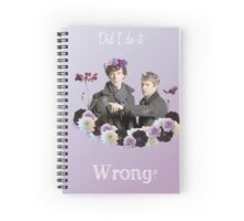Johnlock in flowercrowns ** Spiral Notebook