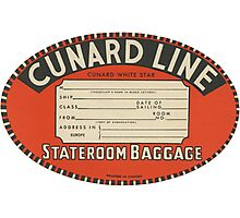 Vintage Luggage Label 1 Photographic Print