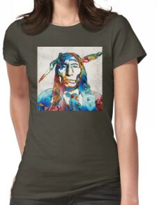 Native American Art - Warrior - By Sharon Cummings Womens Fitted T-Shirt