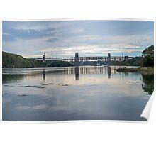 Britannia Bridge Anglesey North Wales Poster