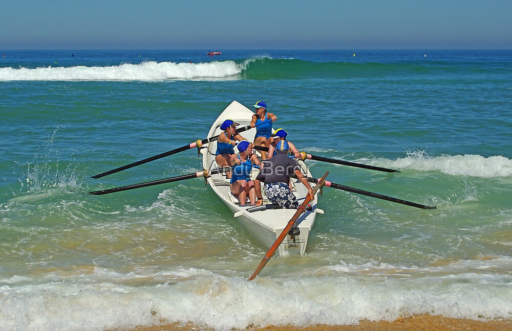 Torquay girls blast through shore break by Andy Berry