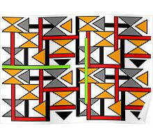 Bright Bold Modern Funky Geometric Abstract Graphic Poster