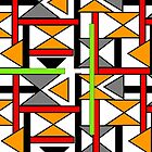 Bright Bold Modern Funky Geometric Abstract Graphic by Artification