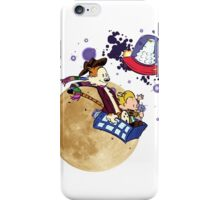 Calvin and Hobbes Moon iPhone Case/Skin