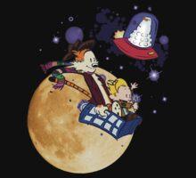 Calvin and Hobbes Moon T-Shirt