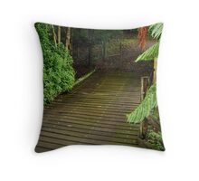Wooden Bridge, Stringers Creek,Walhalla Throw Pillow