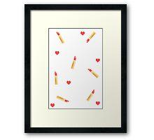 Lipstick Love! Framed Print