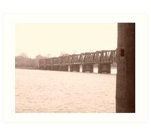 Old Style Railway Bridge Art Print