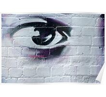 Serious Graffiti Eye Poster