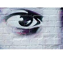 Serious Graffiti Eye Photographic Print