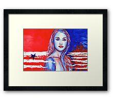 Liberty American Girl Framed Print