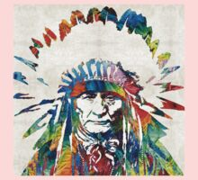 Native American Art - Chief - By Sharon Cummings One Piece - Long Sleeve