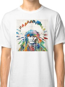 Native American Art - Chief - By Sharon Cummings Classic T-Shirt