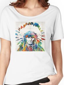 Native American Art - Chief - By Sharon Cummings Women's Relaxed Fit T-Shirt