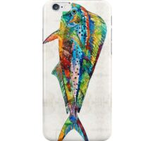 Colorful Dolphin Fish by Sharon Cummings iPhone Case/Skin