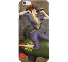 Vault Queen War Pinup Bombshell iPhone Case/Skin