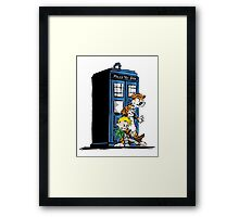 Calvin and Hobbes Doctor Who Style Framed Print