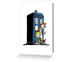Calvin and Hobbes Doctor Who Style Greeting Card