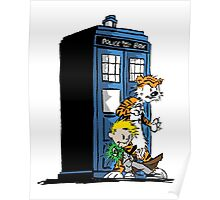 Calvin and Hobbes Doctor Who Style Poster
