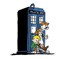 Calvin and Hobbes Doctor Who Style Photographic Print