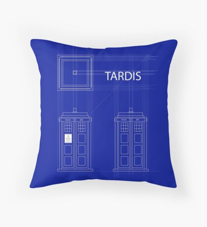 TARDIS Orthogonal Throw Pillow