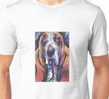 Basset Hound Bright colorful pop dog art Unisex T-Shirt